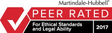 Martindale-Hubbell Peer Rated for Ethical Standards & Legal Ability
