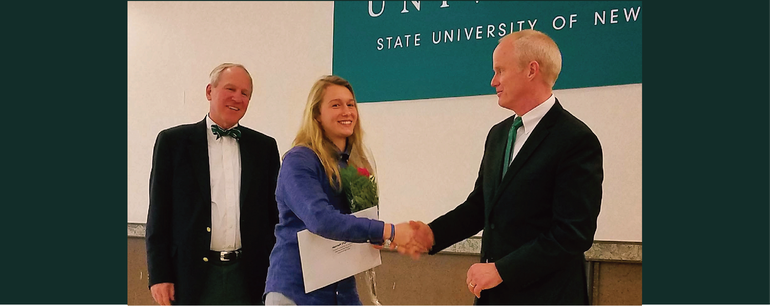 Employee Receives prestigious Honorable Mention for the Provost's Award for Excellence in Undergraduate Research at Binghamton University